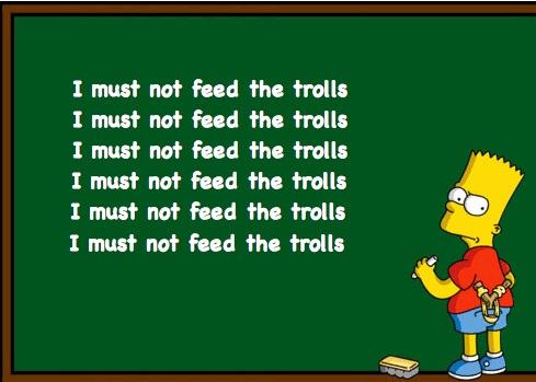 Resultado de imagem para don't feed the troll